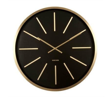 Karlsson Wall clock Maxiemus black metal Ø60cm