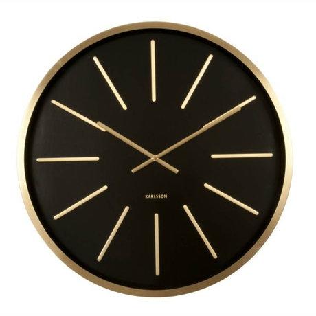 Karlsson Horloge murale Maxiemus Ø60cm en métal noir