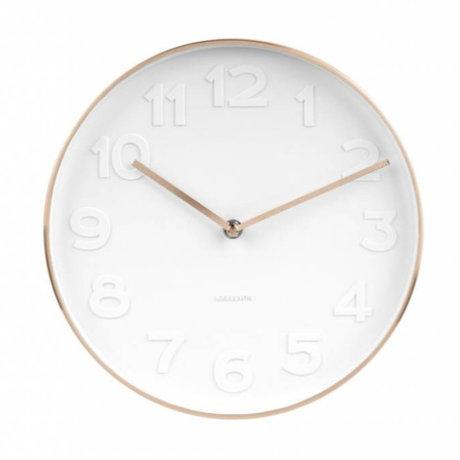 Karlsson M. Wall Clock cuivre blanc acier blanc Ø27,5cm