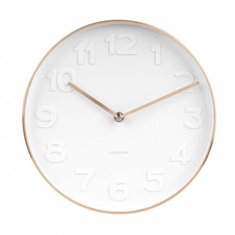 Karlsson Wall clock Mr. White white copper steel Ø27,5cm