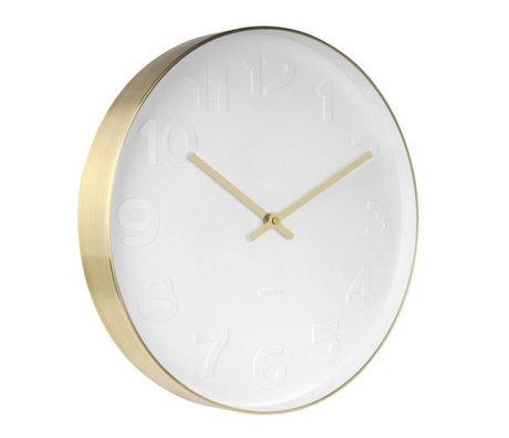Karlsson M. Wall Clock cuivre en or blanc acier blanc Ø37,5cm