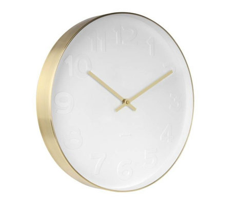 Karlsson Wall clock Mr. White copper white gold steel Ø37,5cm
