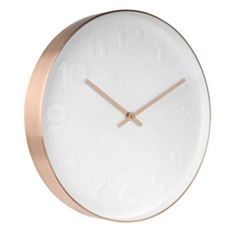 Karlsson M. Wall Clock cuivre blanc acier blanc Ø37,5cm