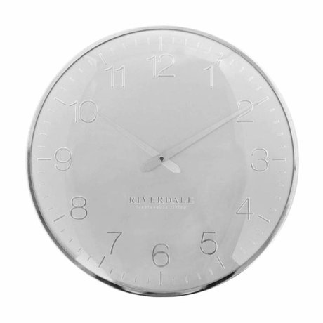 Riverdale Wall clock Ritz silver metal Ø40cm