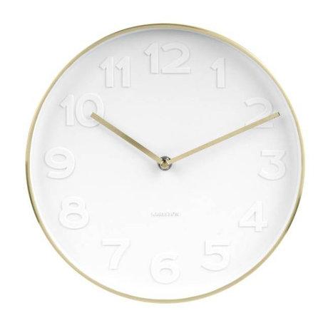 Karlsson Wall clock Mr. White white gold steel Ø27,5cm