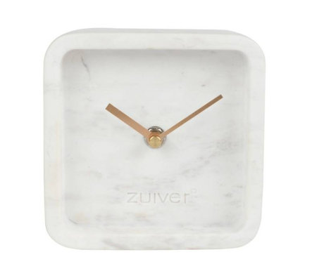 Zuiver Klok Luxary time wit marmer 6x13x13cm