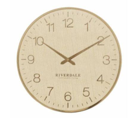 Riverdale Wandklok Ritz goud metaal Ø40cm