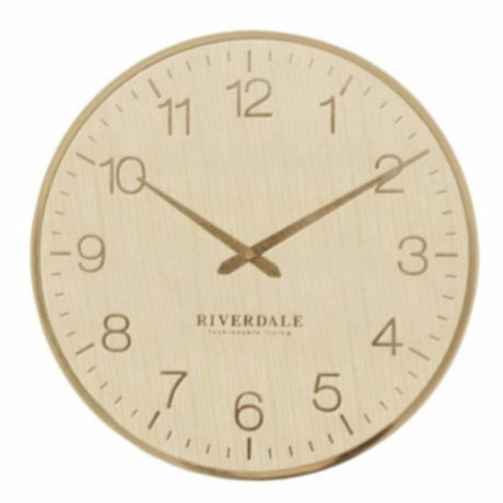 Riverdale Wall clock Ritz gold metal Ø40cm