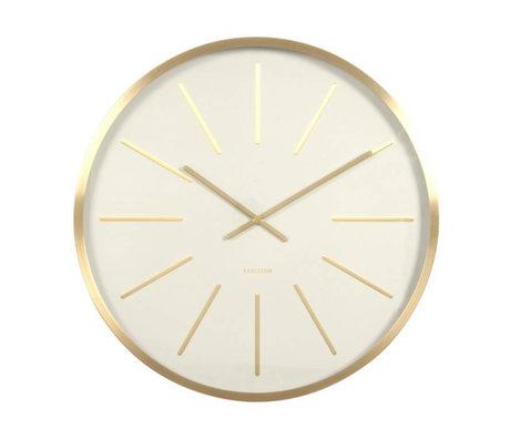 Karlsson Horloge murale Maxiemus Ø60cm en métal blanc