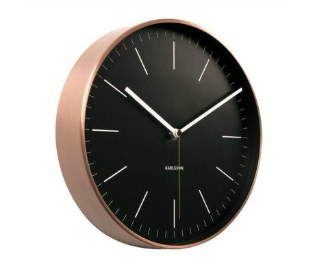 Karlsson Horloge murale Minimal acier noir Ø27,5cm