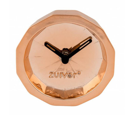 Zuiver Clock Bink Time copper, metal copper with black hands 15x15x8,5cm