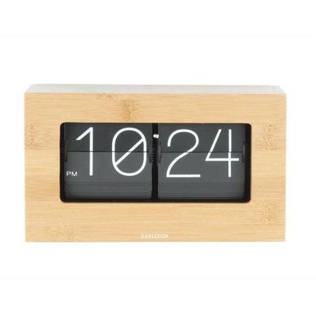 Karlsson Flip Clock bois bambou Boxed 11x21cm
