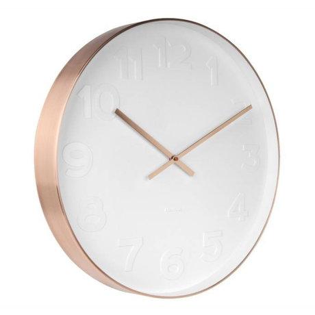 Karlsson Wall clock Mr. White copper steel Ø51cm