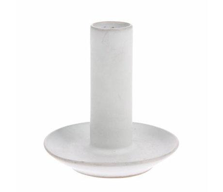 HK-living Kerzenhalter L weiß Keramik 9x9x10cm