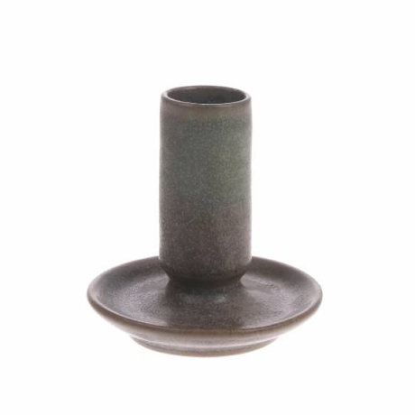 HK-living Candle holder M brown ceramic 7x7x8cm