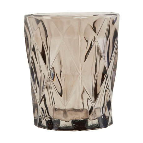 Housedoctor Waxinelichthouder Facet brown glass 58.25x9.8cm