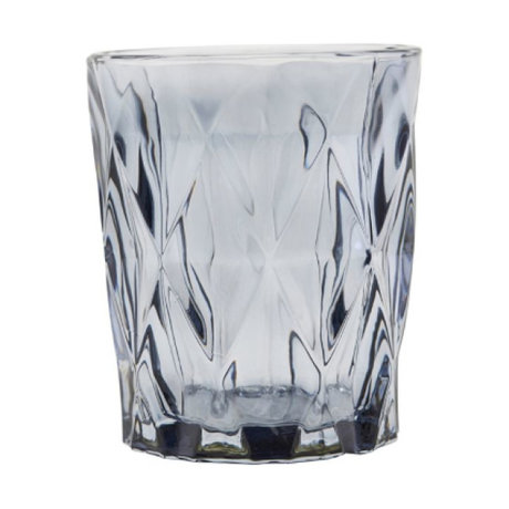 Housedoctor Photophore à facettes verre gris ⌀8.25x9.8cm
