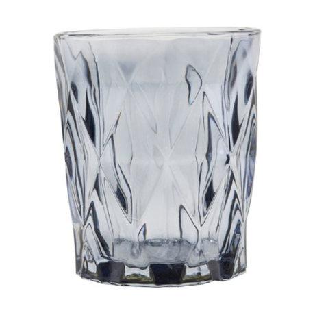 Housedoctor Tea light holder Facet gray glass ⌀8.25x9.8cm