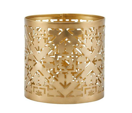 Housedoctor Waxinelichthouder Wilma brass goud ijzer Ø9x9cm