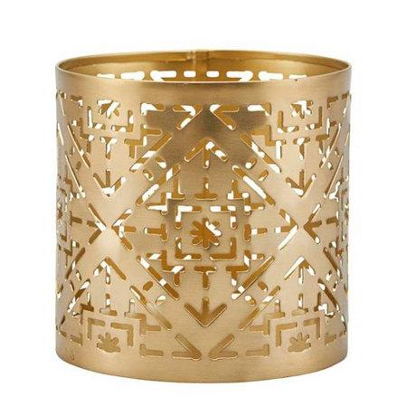 Housedoctor Teelichthalter Wilma Messing Gold Eisen Ø9x9cm