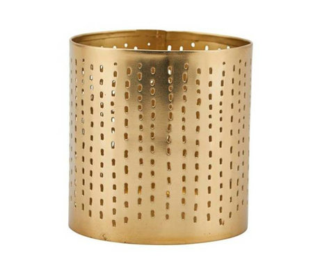 Housedoctor Waxinelichthouder Wilma brass goud ijzer Ø8x8,5cm
