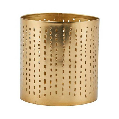 Housedoctor Tealight holder Wilma brass gold iron Ø8x8,5cm