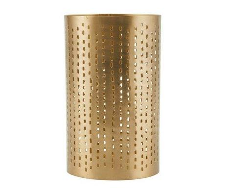 Housedoctor Waxinelichthouder Wilma brass goud ijzer Ø9,5x16cm