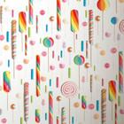 KEK Amsterdam Papier peint multicolore / blanc Lollipops 146,1 x 280 cm 4m²