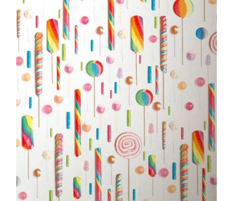 KEK Amsterdam Wallpaper Mehrfarben / weiß Lolly 146,1 x 280 cm 4 m