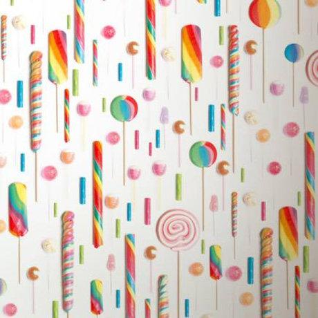KEK Amsterdam Wallpaper multicolour / white Lollipops 146.1 x 280 cm 4m²