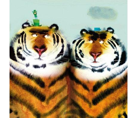 KEK Amsterdam Wallpaper Two tigers multicolor non-woven paper 389.6 x 280 (8 sheets)