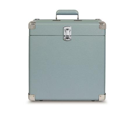 Crosley Radio draagbare koffer hout  Tourmaline leer 38,1x38,1x17,8cm