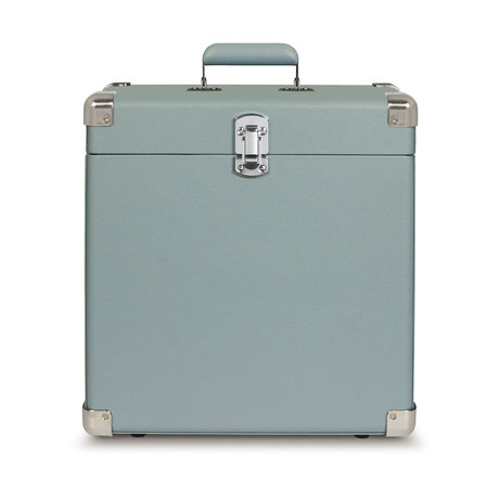 Crosley Radio Tourmaline leather portable wood case 38.1x38.1x17.8cm