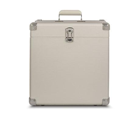 Crosley Radio draagbare koffer hout White Sand leer 38,1x38,1x17,8cm