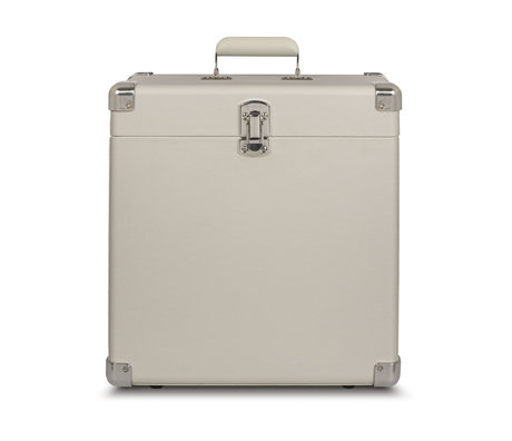 Crosley Radio étui portable bois blanc sable cuir 38.1x38.1x17.8cm