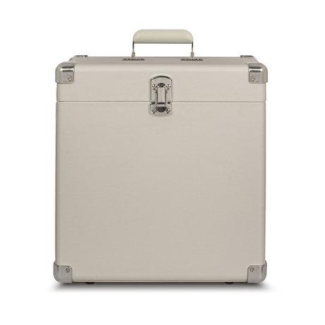 Crosley Radio portable case wood White Sand leather 38.1x38.1x17.8cm