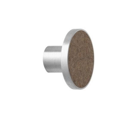 Ferm Living Haak Steel Marble Large bruin marmer Ø4x3,5cm