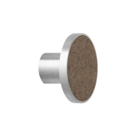 Ferm Living Stahl Marmor häkeln Großer brauner Marmor Ø4x3,5cm