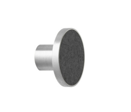 Ferm Living Haak Steel Marble Large zwart marmer  Ø4x3,5cm