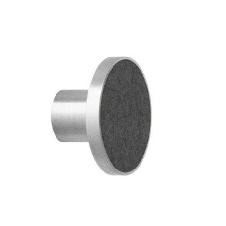 Ferm Living Stahl Marmor häkeln Großer schwarzer Marmor Ø4x3,5cm