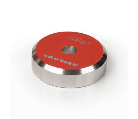 Crosley Radio Adaptateur Aluminium 45'ER - Orange 3x3x1cm