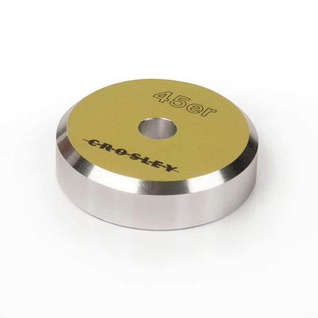 Crosley Radio Adaptateur Aluminium 45'ER - Vert 3x3x1cm
