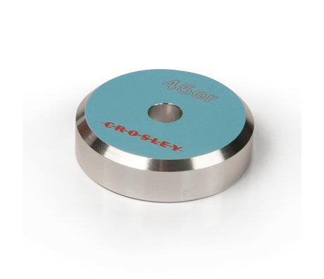 Crosley Radio 45'ER Aluminum adapter - Turquoise 3x3x1cm