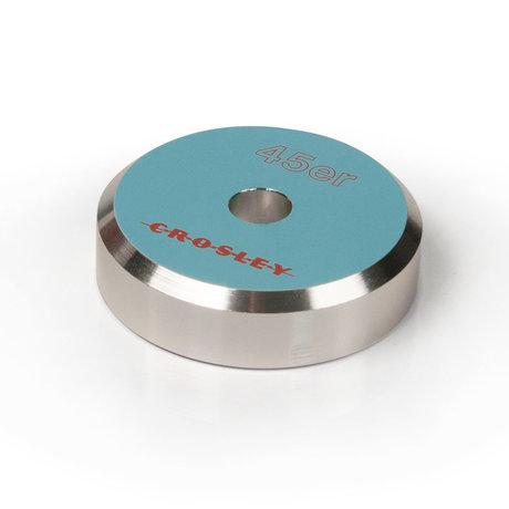 Crosley Radio Adaptateur Aluminium 45'ER - Turquoise 3x3x1cm