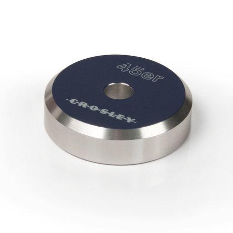 Crosley Radio Adaptateur Aluminium 45'ER - Bleu 3x3x1cm