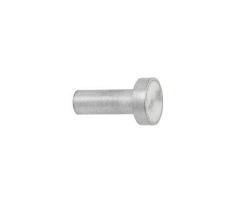 Ferm Living Haak Steel Marble Small wit marmer Ø2x3,5cm