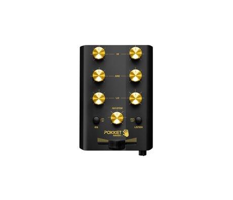 Crosley Radio Pokketmixer - Black/ Gold 11x7.8x2.7cm