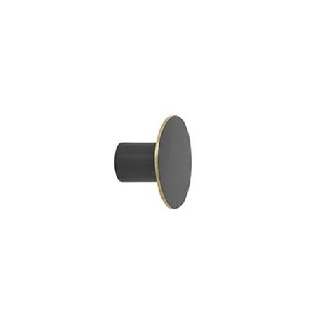 Ferm Living Wandhaak small black metal Ø4x2.5cm