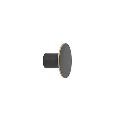Ferm Living Wandhaak small zwart metaal Ø4x2.5cm