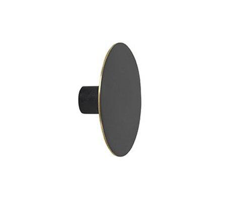 Ferm Living Wandhaak large zwart metaal Ø7x2.5cm